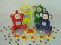 Teletubbies  Cake Toppers with Blossom, Name & Age